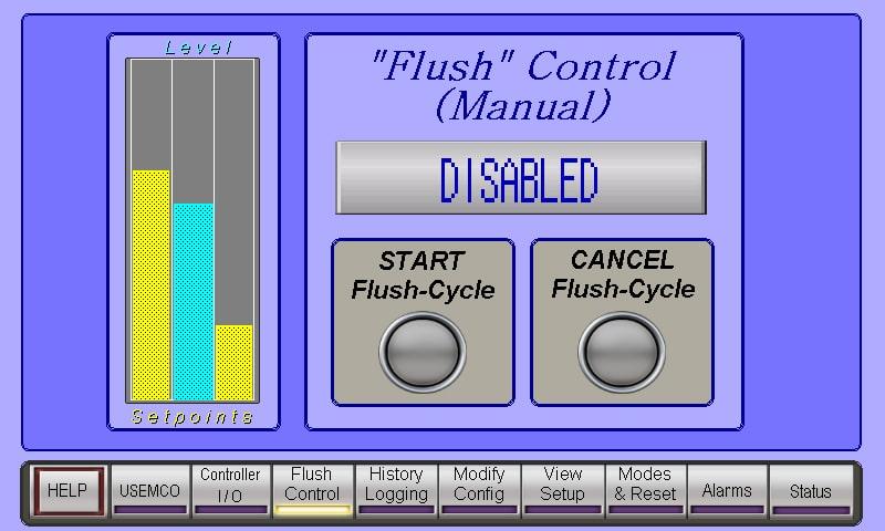 Flush Manual Start
