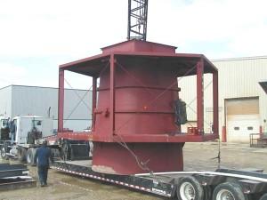 Pump Station, Pump Lift Station, Lift Station Pumps, Unloading from Semi